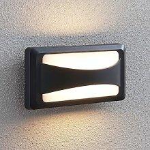 Iskia LED outdoor wall lamp, narrow strip