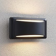 Iskia LED outdoor wall lamp, wide strip