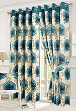 Isla Poppy and Seren Floral Pattern Luxury Curtain