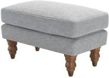 Isla Small Rectangular Footstool in White Cliffs