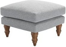 Isla Small Square Footstool in White Cliffs
