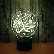 Islamic Muhammad 3D Creative Night Light USB Touch