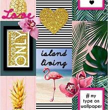 Island Living Tropical 10m x 52cm Matte Wallpaper
