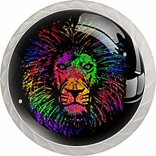 Isolated Lion Head Drawer Knobs Pulls Cabinet