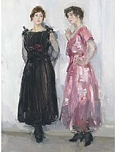 Israels Ippy Gertie Posing Fashion House Painting