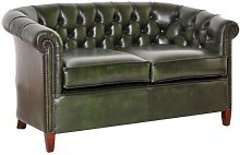 Istres Genuine Leather 3 Seater Chesterfield Sofa