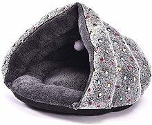 iSunday Thick Triangular Cat Sleeping Bed Winter