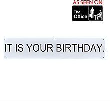 """IT IS YOUR BIRTHDAY."" Banner, as seen on The"