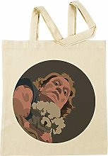 It Puts The Lotion in The Basket Beige Shopping Bag
