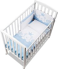 Italbaby Baby Re Q.lletto Cot, Light Blue,