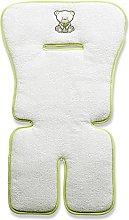 Italbaby Bamboo Sponge Embroidered Cover, White,