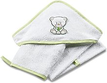 Italbaby Bamboo Terry Square Towel with Handle,