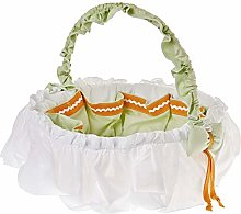 Italbaby Gina Round Beauty Basket, Natural,