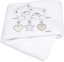 Italbaby Lovely Bears Blanket for Cot, White,