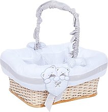 Italbaby Lovely Bears Rectangular Beauty Basket,