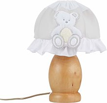 Italbaby Plush Table Lamp, Dove Grey/Natural,