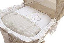 Italbaby Sweet Star Duvet Cover for Cradle, Dove