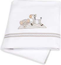 Italbaby Zerby Blanket for Cot, White,