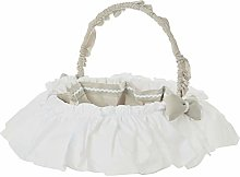 Italbaby Zerby Round Beauty Basket, Natural,