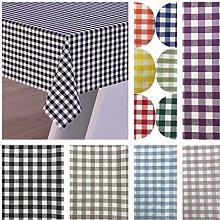 Italian Check cotton tablecloth (Purple, 160x240