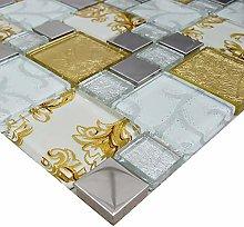 Italian Design Onyx Gold Vintage Mix Squares