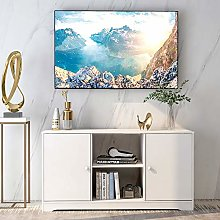 Itopfoxeu Wooden TV Stand Table Media Stand for