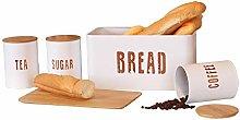iTrend 4pcs Bamboo & Tin Food Storage Set - Bread