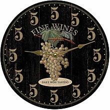 Its Wine OClock Somewhere Clock Black Wine Clock