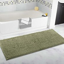 ITSOFT Non-Slip Shaggy Chenille Bath Mat Soft