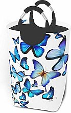 IUBBKI Blue Butterfly Printed Waterproof Foldable