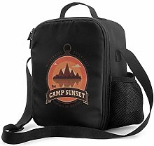 IUBBKI Camp Sunset Insulated Lunch Bag, Leakproof