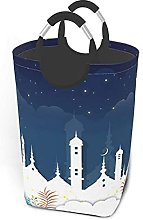 IUBBKI Castle Night Printed Waterproof Foldable