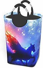 IUBBKI Cool Horse Printed Waterproof Foldable