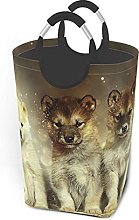 IUBBKI Cute Wolf Printed Waterproof Foldable