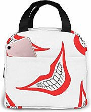 IUBBKI Evil Clown-Playing Portable Insulated Lunch