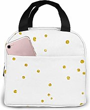 IUBBKI Gold Glittering Confetti Lunch Bag Cooler