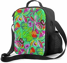 IUBBKI Green Vegetables Insulated Lunch Bag,