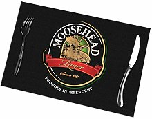 IUBBKI Moosehead Logo Placemats for Dining Table