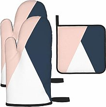 IUBBKI Oven Mitts and Pot Holders 3pcs Set,Elegant