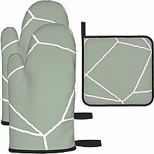IUBBKI Oven Mitts and Pot Holders 3pcs