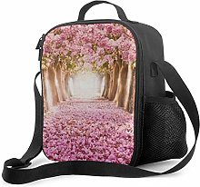 IUBBKI Pink Cherry Blossom Trees Forest Sea