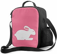 IUBBKI Pink Easter Bunny Insulated Lunch Bag,