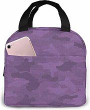 IUBBKI Purple Reusable Insulated Lunch Bag Cooler
