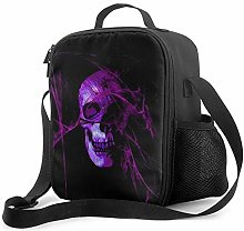 IUBBKI Purple Skull Insulated Lunch Bag, Leakproof