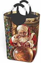 IUBBKI Santa Claus Printed Waterproof Foldable