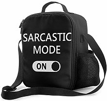 IUBBKI Sarcastic Mode Insulated Lunch Bag,
