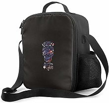 IUBBKI Tribal Skull Insulated Lunch Bag, Leakproof