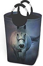 IUBBKI White Horse Printed Waterproof Foldable