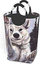 IUBBKI Wolf Paw Printed Waterproof Foldable
