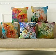 IUEVC Cushion Cover 5 Piece Set Linen Hug